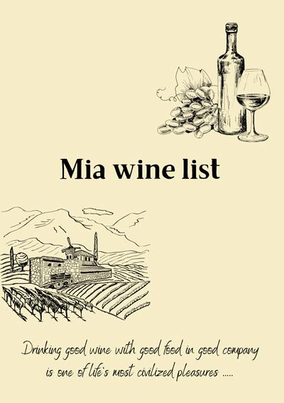 wine list mia restaurant